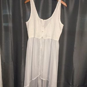 Hollister lace top size medium white
